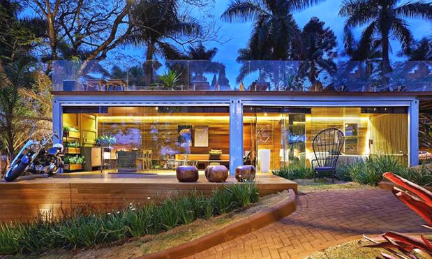 Construções em container: habitação moderna e prática.