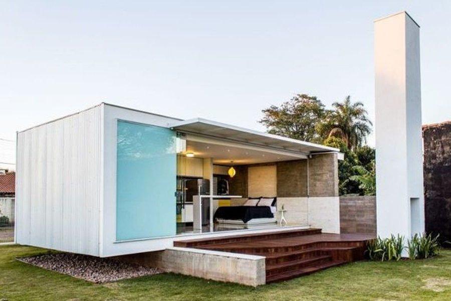 Casa Container: pra que telhado?