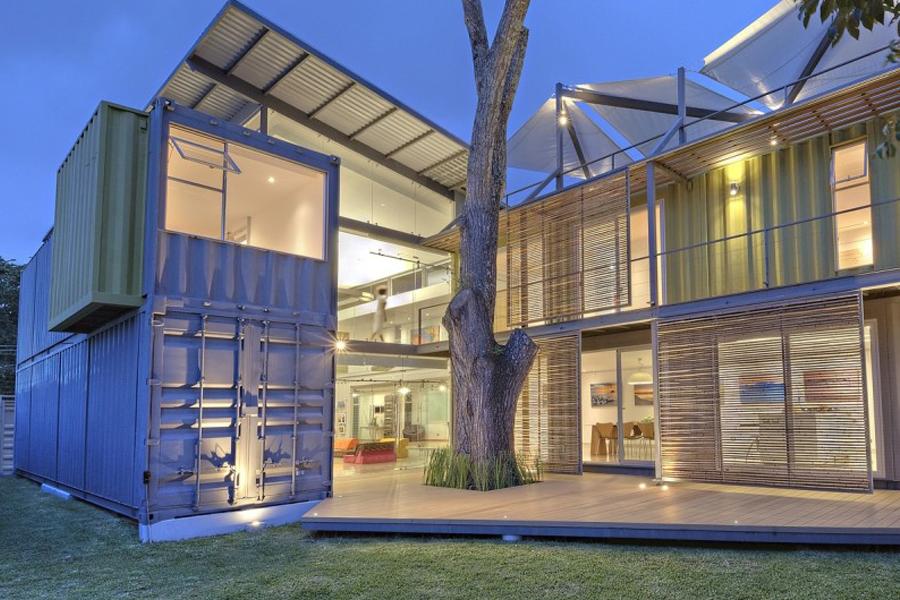 Práticas da arquitetura sustentável com container.