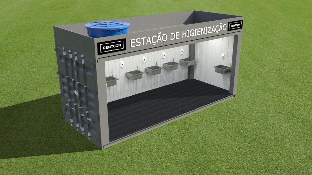 Estação de Higienização - Novo Projeto Rentcon Locações